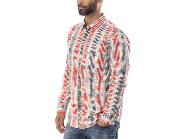 Royal Robbins Vista Chill Plaid Longsleeve Shirt Heren, rood/blauw